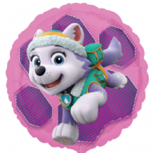 "Pink Paw Patrol Skye & Everest Foil Balloon (18"") 1pc"